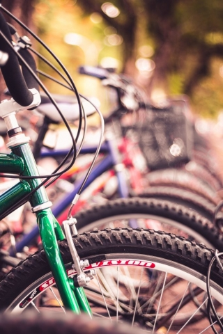 Bicycle, brake cable and tyre