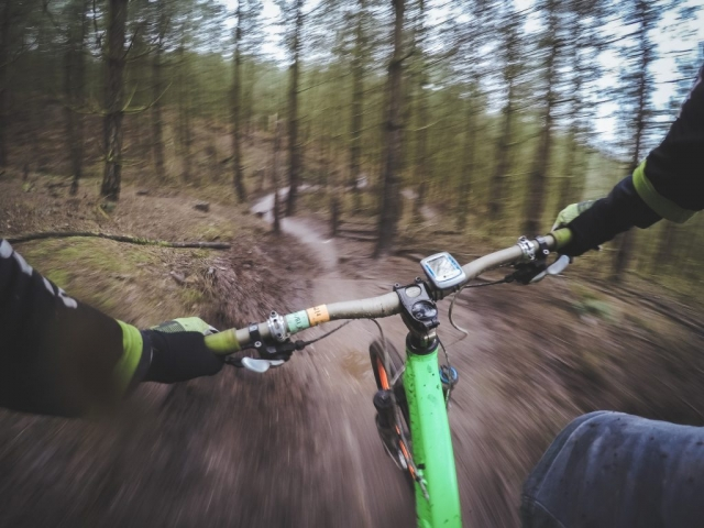 Cycling, bike, sport, hand and mountain